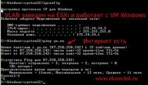 Vlan заведен на ESXi 5.5