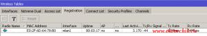 Успешная регистрация телефона Cisco CP-7925G на Микротике