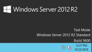 Включен тестовый режим на Windows Server 2012 R2 Standard