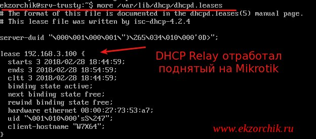 Dhcp Relay isc-dhcp-server