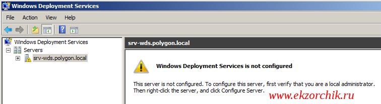 Запущенная оснастка с ролью WDS: Windows Deployment Services