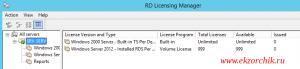 Терминальный сервер на базе Server 2012 R2 Std успешно активирован, лицензии на пользователя