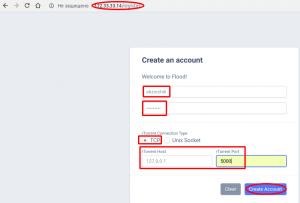 Регистрируюсь и создаю аккаунт во фронтенде rTorrent + Web