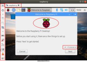 Успешно подключение через Remmina к VNC Raspbian Stretch