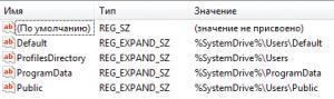 Дефолтное расположение путей в системе Windows 7.
