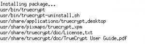 Обзор установленных файлов TrueCrypt