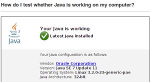 Java работает на Вашем компьютере.