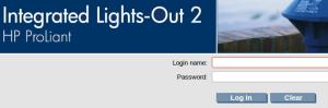 Далее вводим логин и пароль на Web-интерфейс iLo